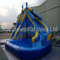 Hot Sale Small Inflatable Backyard Water Slide with Pool for Children
