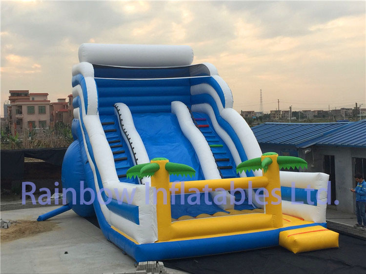 RB6094(10x4m )Inflatable Ocean theme dry slide