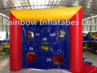 Small Indoor Inflatable Football Shooting Game Soccer Goal Game for Kids