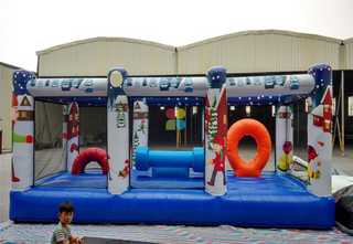 Inflatable Rainbow Children obstacle course for sale
