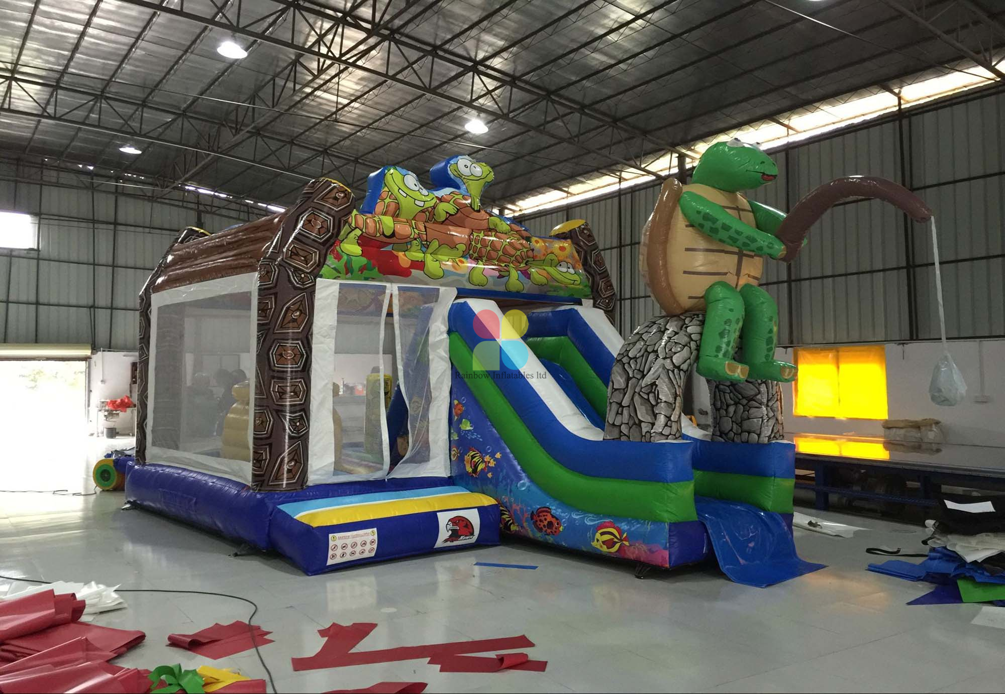 Inflatable Turtle Bouncer Slide And Combo
