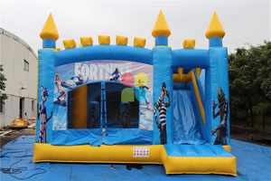 Rainbow Factory Inflatable Jumping House with Slide
