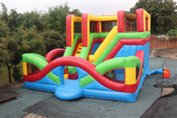 Inflatable double slide fun park