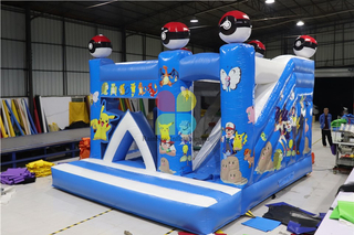 Pikachu Theme Bounce House Inflatable Jumper Bounce House Bounce Castle Slide For Sale