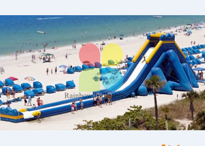 World's Largest Inflatable Hippo Water Slide , Beach Huge Water Slide, Giant Hippo Inflatable Slide for Adult