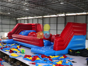 New Design Giant Inflatable Big Baller Game Obstacle Course for Adults