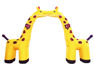 RB21009(6x5m) Inflatable Giraffe theme arch advertising archway