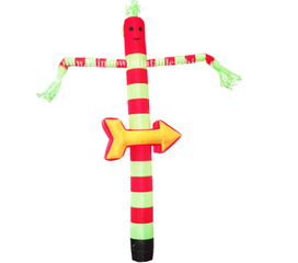 RB23016(5.5m) Inflatable high quality custom logo advertising dancing man sky tube air dancer