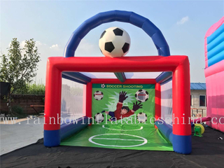 Famous Outdoor High Quality Inflatable Soccer Shooting Game Goal Game for Adults