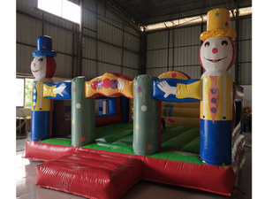 Outdoor Commercial Baby Clown Inflatable Bouncers