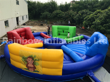 Hot Sale Outdoor Commercial Inflatable Hungry Hippo Chow Down Game for Adults