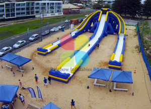 15m high adults giant inflatable triple water slide for water,FreeStyle Slides. Rainbow Inflatable giant water slide