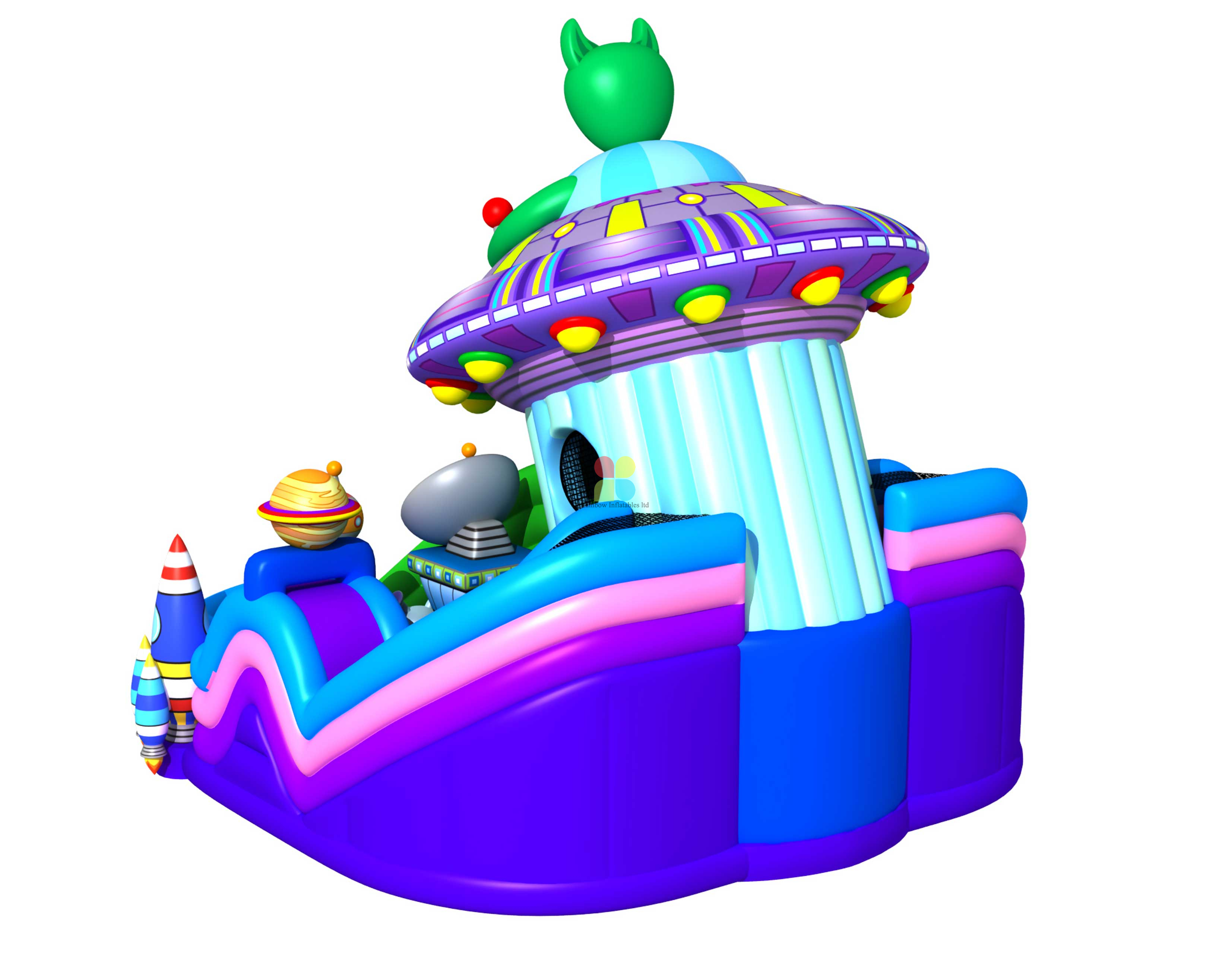 Inflatable Outer Space Ship Theme Slide Castle The Outerspace Expore Science Theme Slide Obstacle