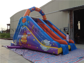 RB8018(6x4m) Inflatable Outspace theme double line slide
