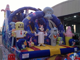 RB6054(8x6x6m)Inflatable sponge bob high slide