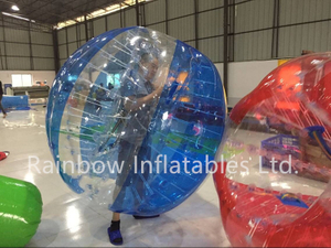 RB33007-5(dia 1.8m)Inflatable Rainbow body bumper ball for adult
