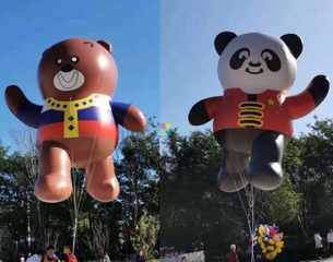 Advertising Helium Balloon Cute Brown Giant Inflatable Flying Bear for Sale