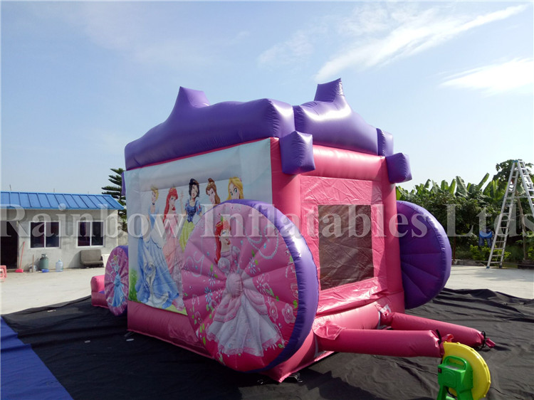 Commercial Durable Inflatable Princess Carriage Combo for Kids