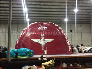 RB41032-4(dia 7m)Inflatable rainbow air tight tent for sale