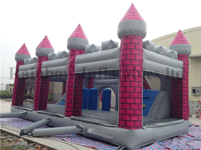 Outdoor Commercial Inflatable X-Men Theme Double Lane Slide Playground