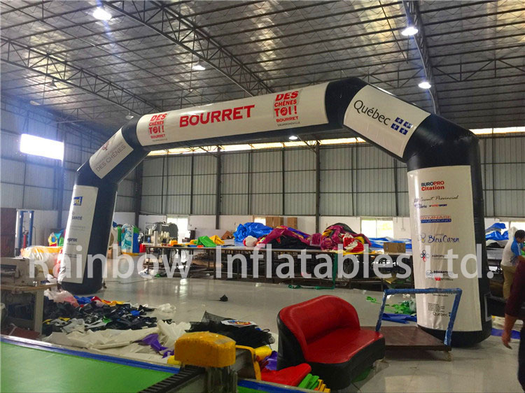 RB21050(7x4m)Inflatable Big Black Arch for sale