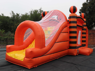 Customized Outdoor Commercial 3 In1 Inflatable Combo Jump House With Slide For Sale