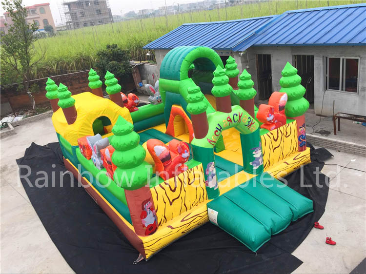 Outdoor Commercial 4 in 1 Inflatable Combo for Children