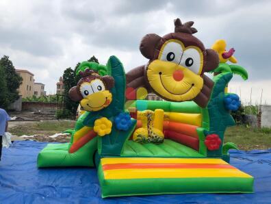 inflatable jungle monkey combo