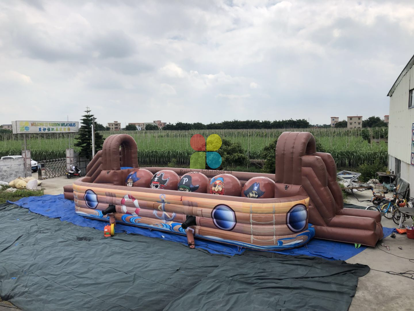 Inflatable Pirate Baller Game