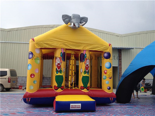 Outdoor Commercial Clown theme Inflatable Bouncers