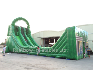 China Inflatable Giant Zip Line Slide for sale