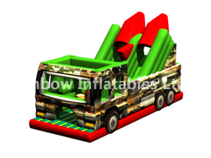 RB5200(4x10x5.5m) Inflatable New rainbow Missile vehicle Obstacle Course