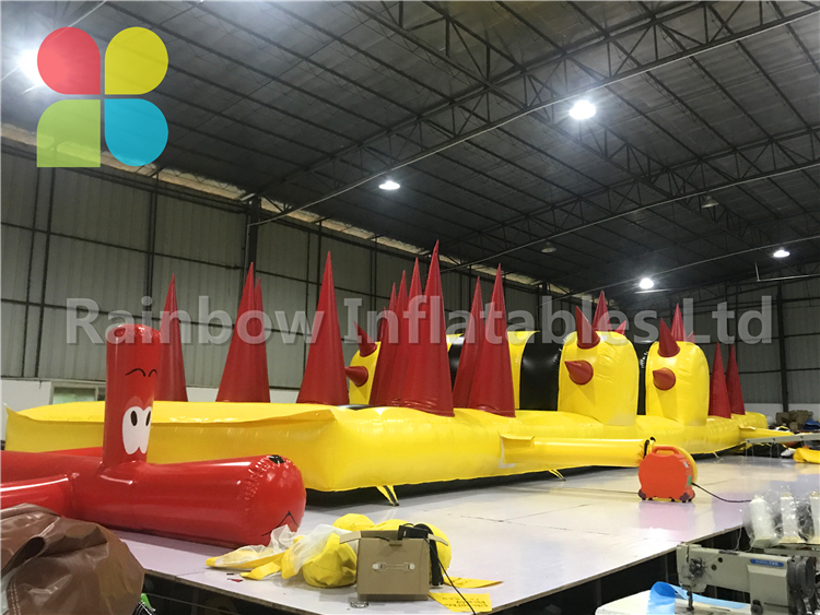 Huge Outdoor Commercial Inflatable Obstacle Course Challenge Game Eqiupment