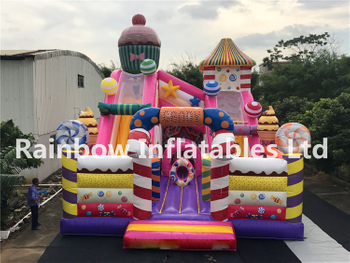 Giant Commercial Durable Sweet Candy Theme Playground Inflatable