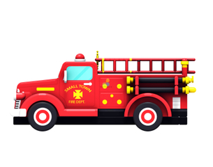 Inflatable Fire Truck Jumper Fire Station & Fire Truck Inflatable Obstacle