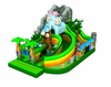 Inflatable Jungle Theme Slide Obstacle Inflatable 3D Elephant Cartoon Slide Fun Park