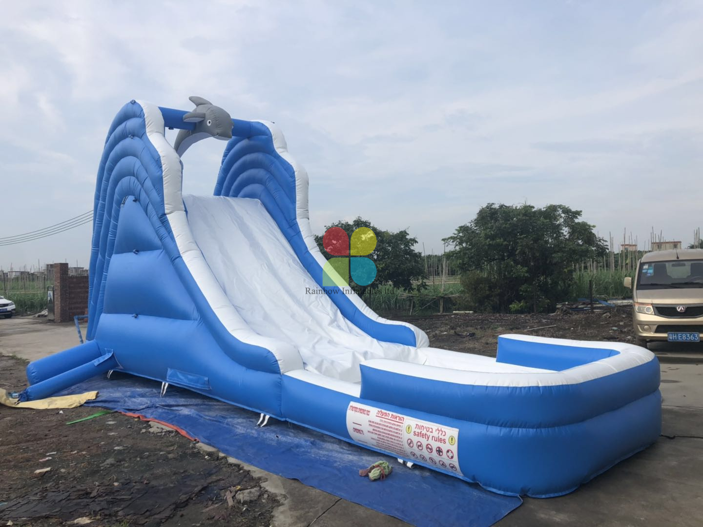 Factory Cheap Dophin Water Slide for Rentals