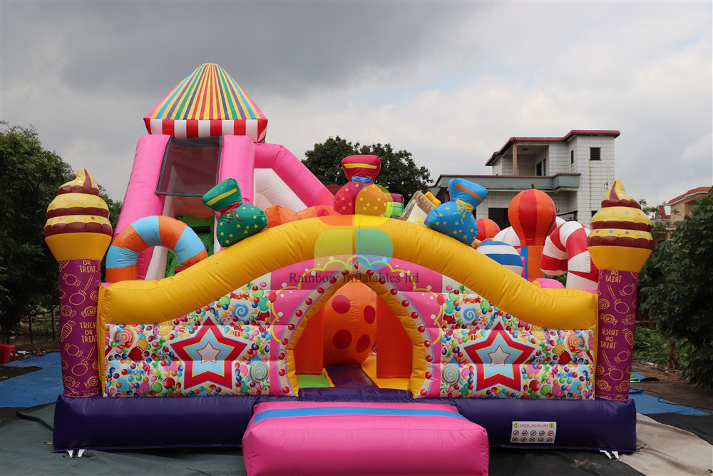 Inflatable Candy Series Theme Funcity with Slides for Child