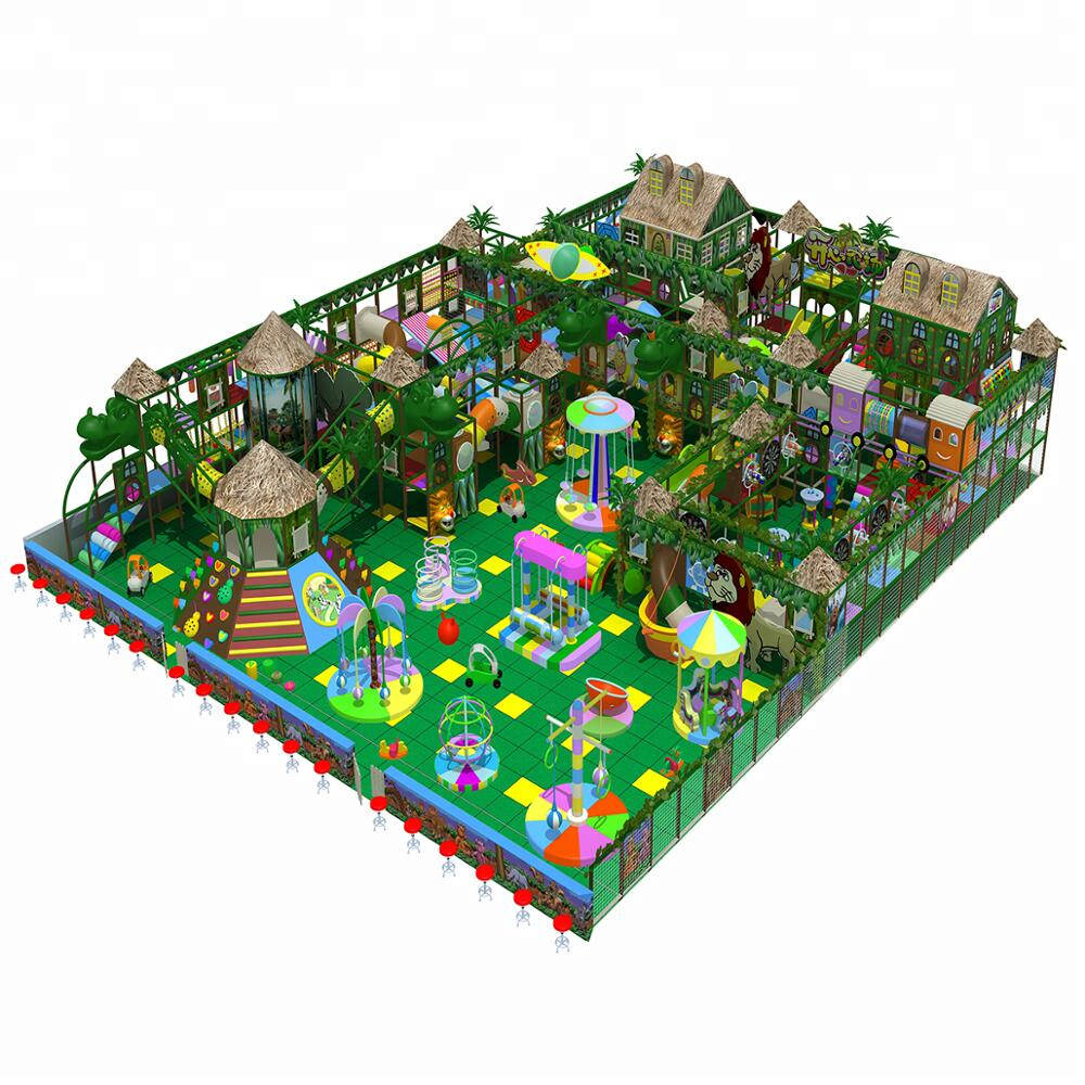 jungle theme indoor play area