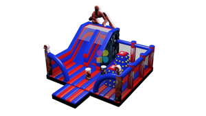 Digital Printing Funny Inflatable Bouncer Spider Man Playground For Rental