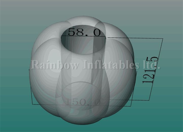 RB33007-7(dia 1.5m) Inflatable Special PVC Body Bumper Ball