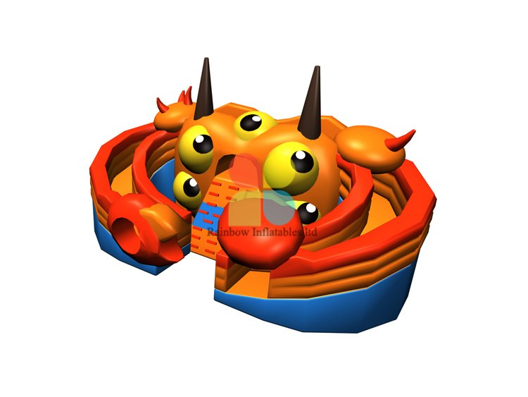 RB06117(8.7x6x3.4m)Inflatable crab giant double slide new design for sale