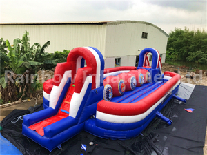 Popular Outdoor Inflatable Wipeout Big Baller Game for Sale
