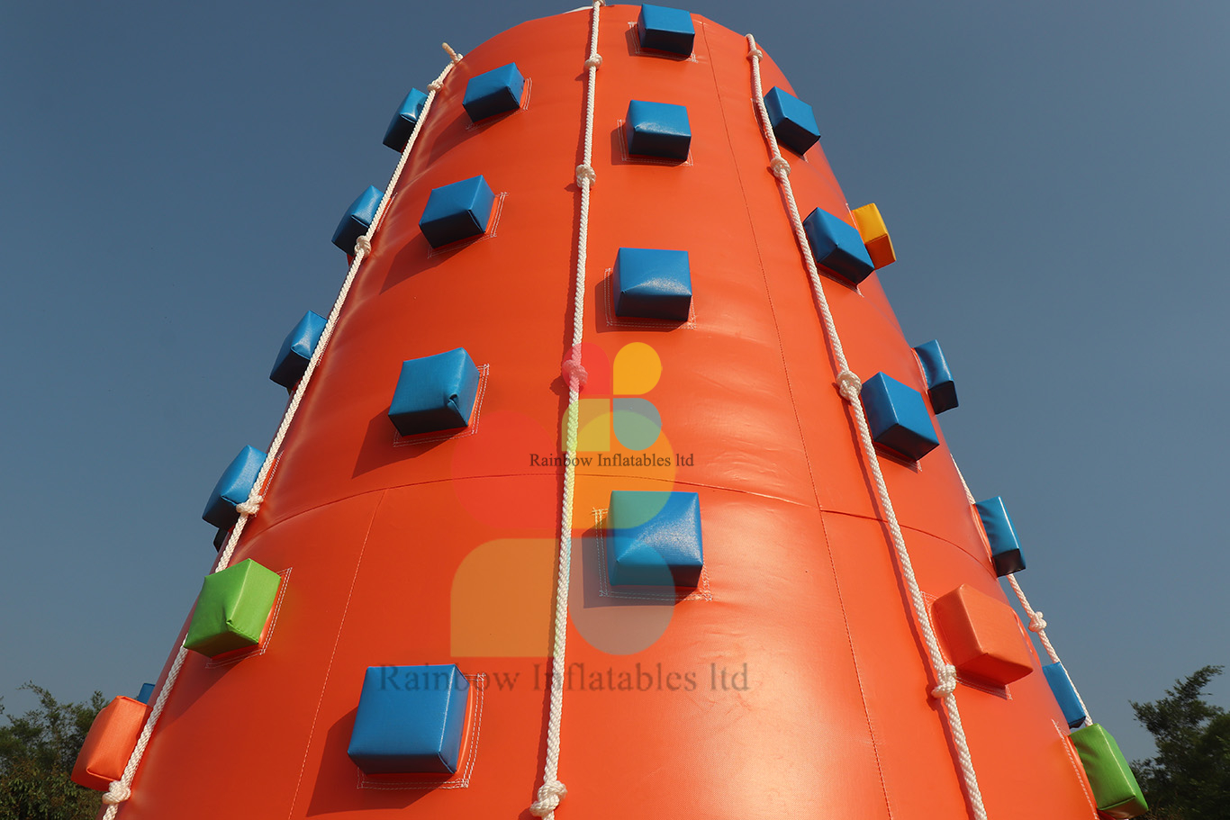 Outdoor Fun Sport Game Inflatable Rock Climbing Mountain Wall for Sale