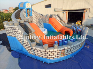Customized Large Inflatable Climbing Mountain Tower Obstacle Course for Kids