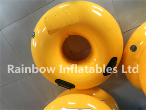 RB33018(0.8x0.8x0.25m )Inflatables Yellow swimming ring for sell