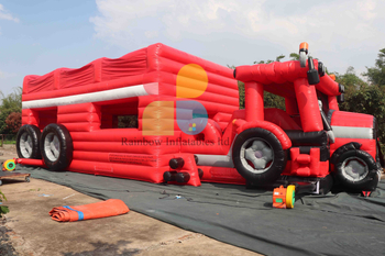 RB05006-2(15x4m) Inflatable Rainbow New Design Tractor Long Obstacle Courses for Sale