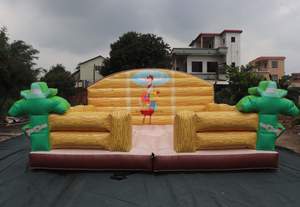 Inflatable Crazy Bull Game Inflatable Mechanical Bull Bouncer Mattress for Sale