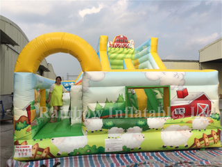 Colorful Outdoor Commercial Inflatable Farm Theme Playground Bounce