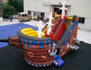 RB11003(8.4x4.8x4.5m) Inflatable Rainbow Hot Sale Pirate Ship